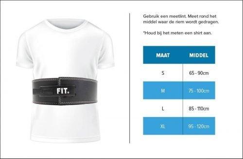 Maattabel riem fit.nl