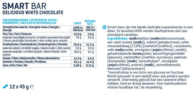 Voedingswaarde van Smart Bar Body en Fit