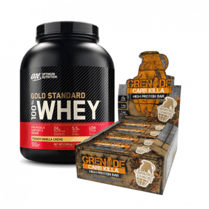 Gold Standard Whey en Carb Killa Bars combi deal