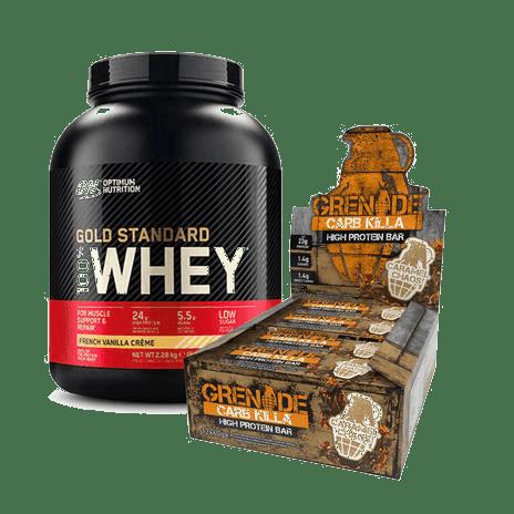 Gold Standard Whey en Carb Killa Bars combi deal