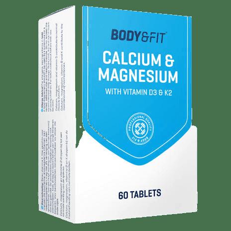 Body & Fit Calcium & Magnesium met vitamine D3 en K2 tabletten
