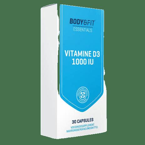 Body & Fit vitamine D3 1000IU capsules