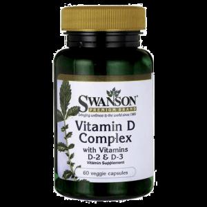 Swanson Vitamine D Complex D2 en D3 capsules