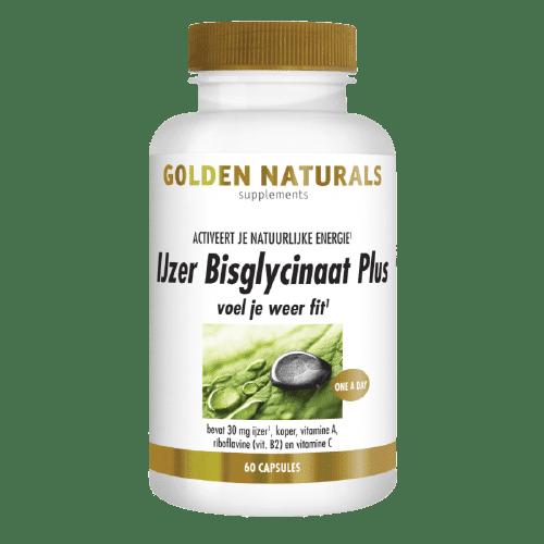 Golden Naturals IJzer Bisglycinaat Plus